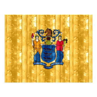 Nueva bandera de madera de Jerseyan Flyer A Todo Color