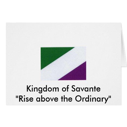 Nueva bandera de Savantian, reino abo de la subida Tarjeta De Felicitación