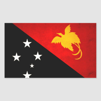 Nueva bandera guineana nerviosa moderna de Papua Pegatina Rectangular