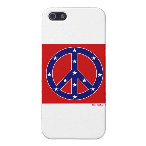 Nueva bandera meridional de la paz iPhone 5 cárcasa