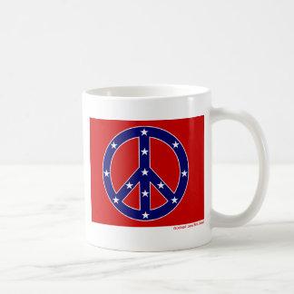 Nueva bandera meridional de la paz tazas