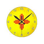 Nueva bandera mexicana del contraste colorido reloj