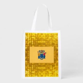 Nueva bandera oficial de Jerseyan Bolsas De La Compra