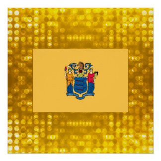 Nueva bandera oficial de Jerseyan Perfect Poster