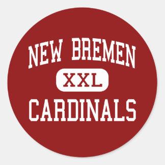 Nueva Bremen - cardenales - alta - nueva Bremen Etiquetas Redondas