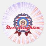 Nueva Brighton, manganeso Etiquetas Redondas