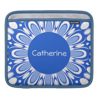Nueva caja azul y blanca de la manga del iPad del  Funda Para iPads