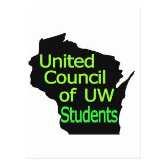 Nueva cal unida del logotipo del consejo en negro postal