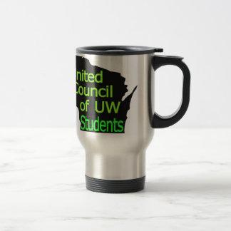 Nueva cal unida del logotipo del consejo en negro taza de viaje de acero inoxidable