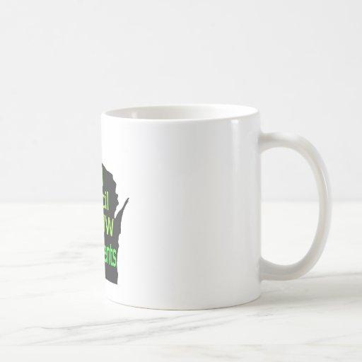 Nueva cal unida del logotipo del consejo en negro taza de café