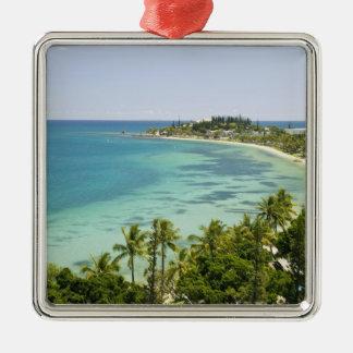 Nueva Caledonia, grande isla de Terre, Noumea. Adorno Cuadrado Plateado
