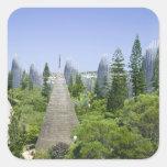 Nueva Caledonia, grande isla de Terre, Noumea. Pegatinas Cuadradases Personalizadas