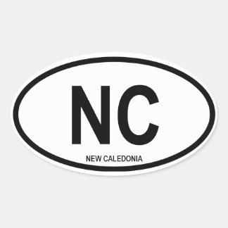 """Nueva Caledonia """"NC """" Calcomanías De Óvales"""