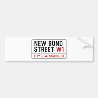 Nueva calle en enlace etiqueta de parachoque