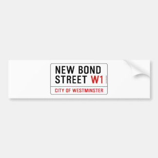 Nueva calle en enlace pegatina de parachoque