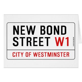 Nueva calle en enlace tarjeta de felicitación