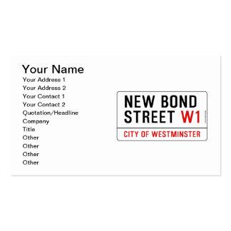Nueva calle en enlace tarjetas de visita