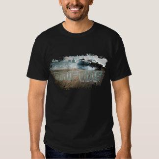 Nueva camiseta de deriva para hombre de los poleras