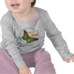Nueva camiseta de la mariposa de la creación