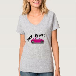 Nueva camiseta del coche del rosa del conductor