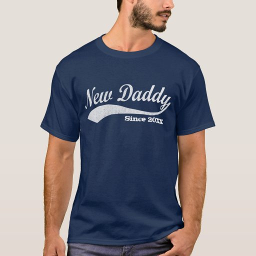 Nueva camiseta deportiva del papá, con año de