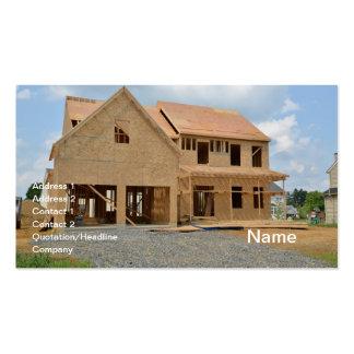 nueva casa unifamiliar bajo construcción tarjetas de visita
