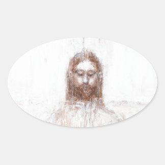 Nueva cubierta de Turín (realismo contemporáneo Pegatina Ovalada