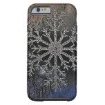 NUEVA cubierta del diseño del copo de nieve del Funda De iPhone 6 Tough