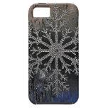 NUEVA cubierta del diseño del copo de nieve del ip iPhone 5 Cárcasas