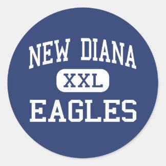 Nueva Diana - Eagles - High School secundaria - Etiqueta Redonda