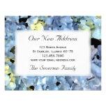 Nueva dirección del Hydrangea azul Invitacion Personalizada