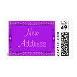 nueva dirección púrpura sello