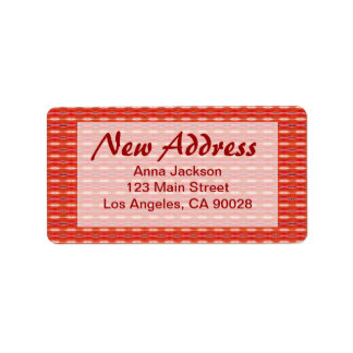 Nueva dirección roja etiquetas de dirección