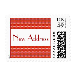 Nueva dirección roja sello