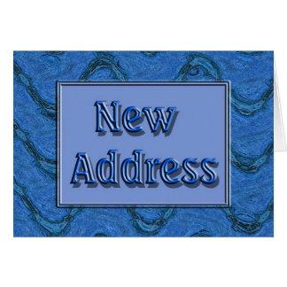 Nueva dirección tarjeta de felicitación