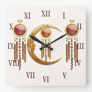 Nueva edad celestial de la elegancia 3D Reloj Cuadrado