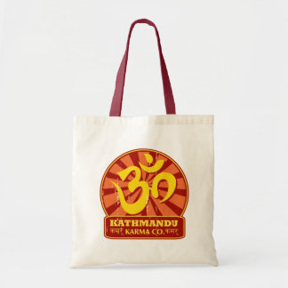 Nueva edad de Katmandu y símbolo budista de OM Bolsa Tela Barata