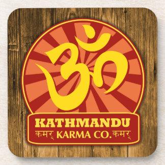 Nueva edad de Katmandu y símbolo budista de OM Posavasos De Bebidas