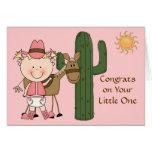 Nueva enhorabuena de la niña y del potro - occiden felicitación