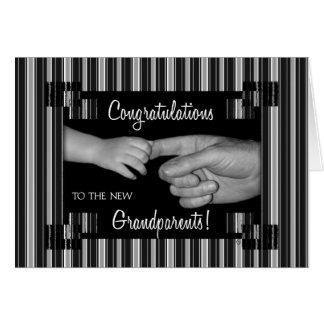 Nueva enhorabuena de los abuelos tarjeta de felicitación