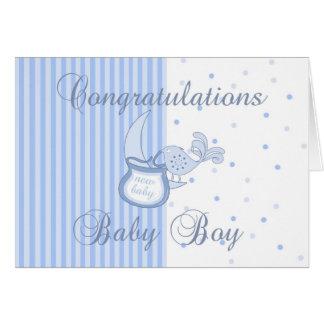 Nueva enhorabuena del bebé - nueva tarjeta del beb