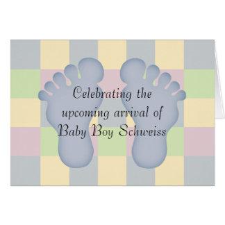 Nueva enhorabuena del bebé felicitación