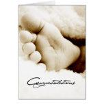 Nueva enhorabuena del bebé tarjeta