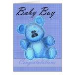 Nueva enhorabuena del bebé tarjeta de felicitación