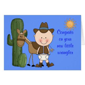 Nueva enhorabuena del bebé y del potro - occidenta felicitacion