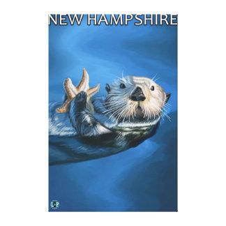 Nueva escena de la nutria de HampshireSea Lona Estirada Galerías