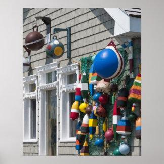 Nueva Escocia, Canadá. Tienda de la boya en rocas  Poster