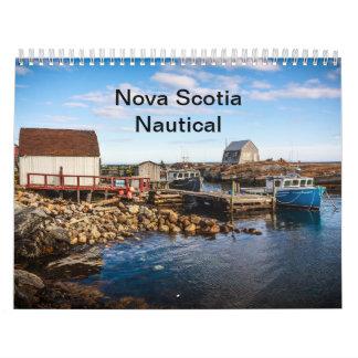 Nueva Escocia náutica Calendario De Pared