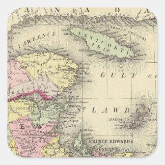 Nueva Escocia, Nuevo Brunswick, identificación de Pegatinas Cuadradases Personalizadas