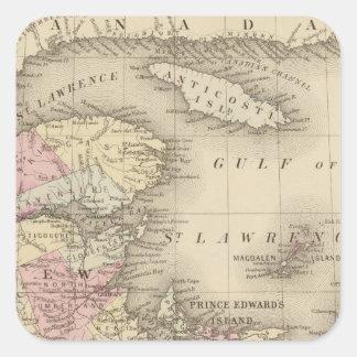 Nueva Escocia, Nuevo Brunswick, identificación de Pegatina Cuadrada